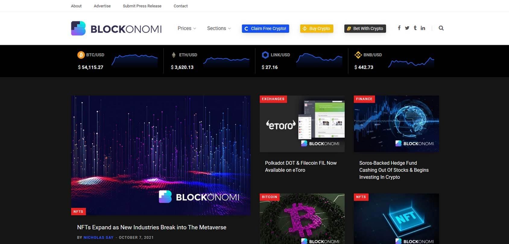 Blockonomi Homepage