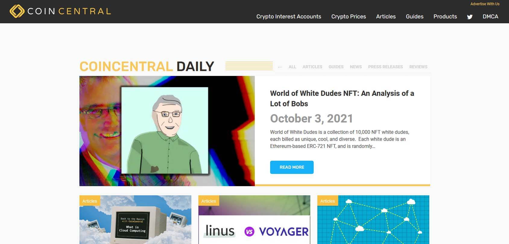 Coin Central Homepage