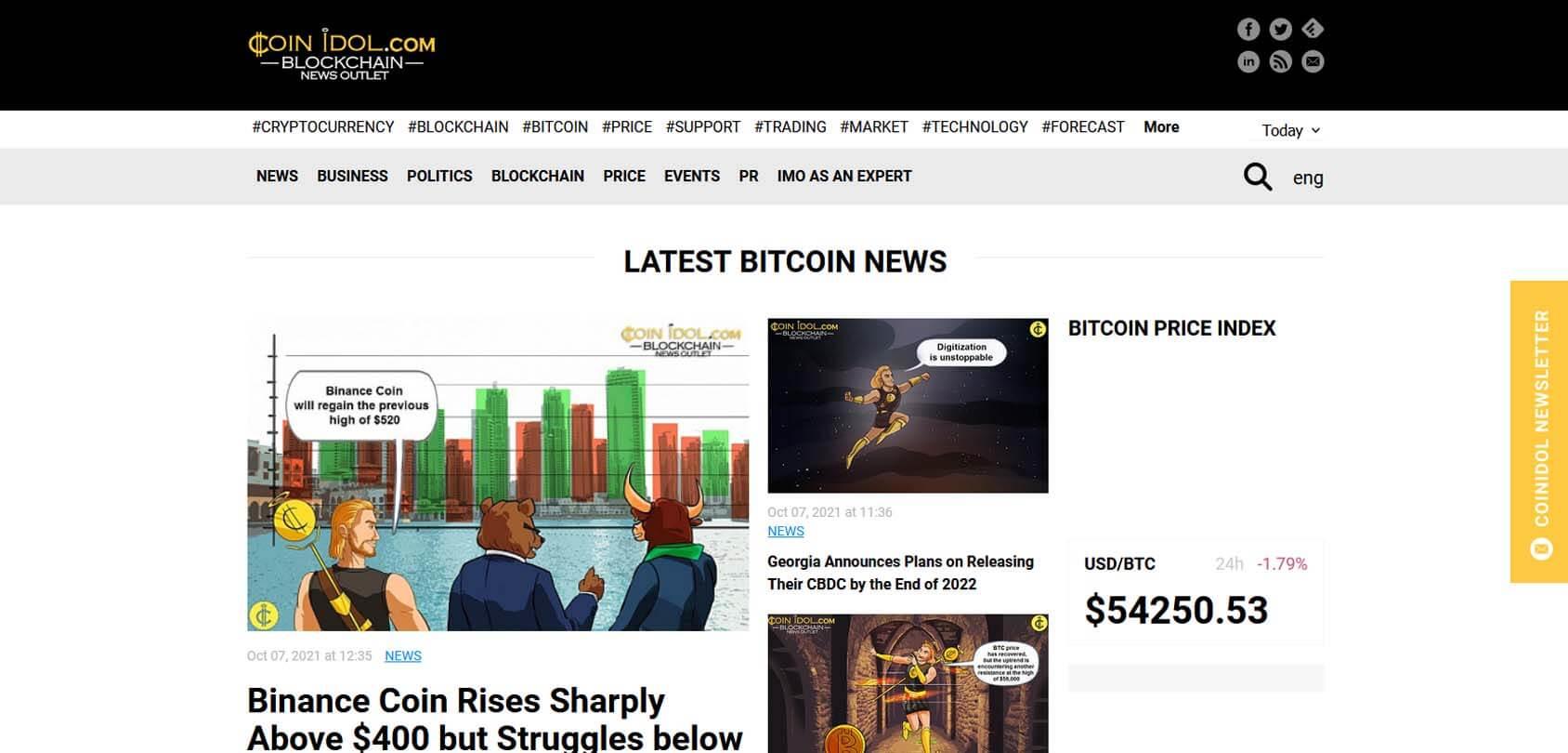 Coin Idol Homepage