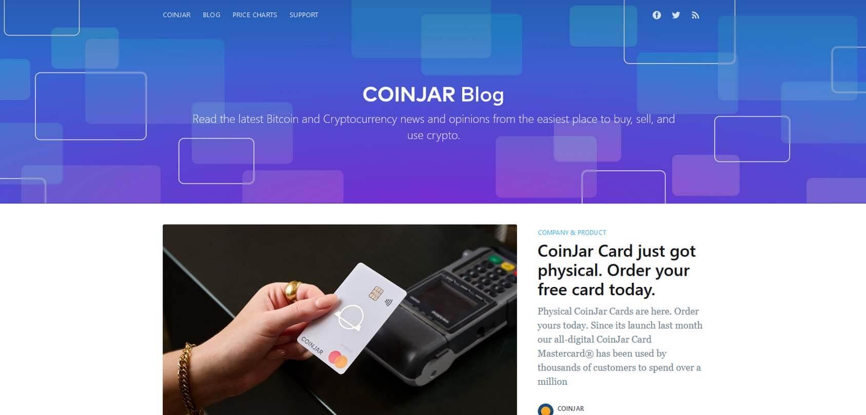 CoinJar Blog Homepage