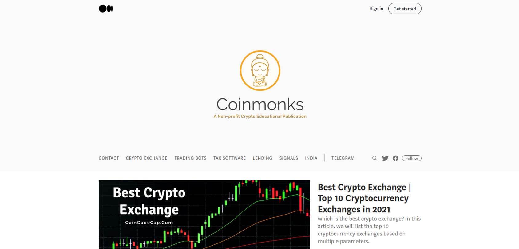 Coinmonks Homepage
