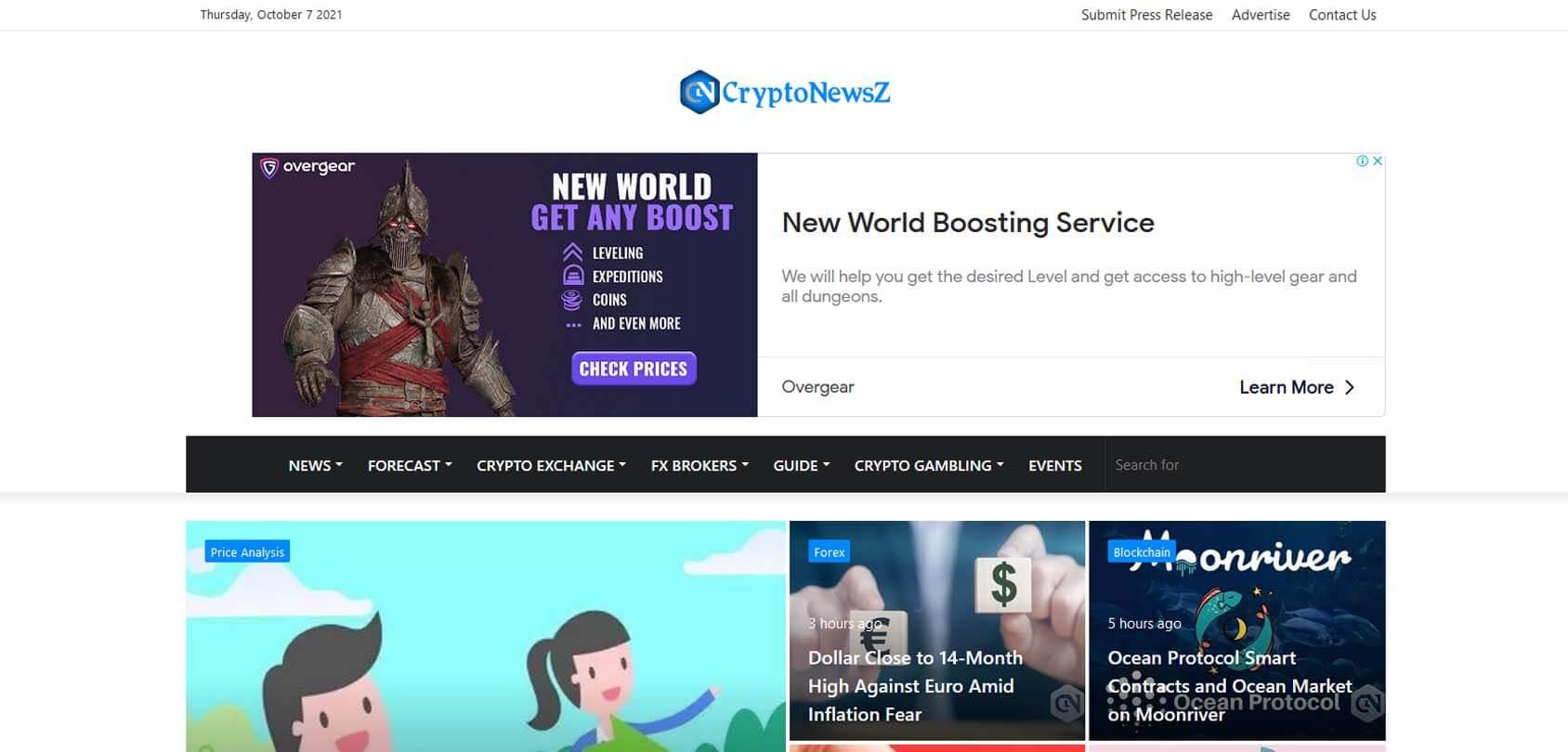 CryptoNewsZ Homepage