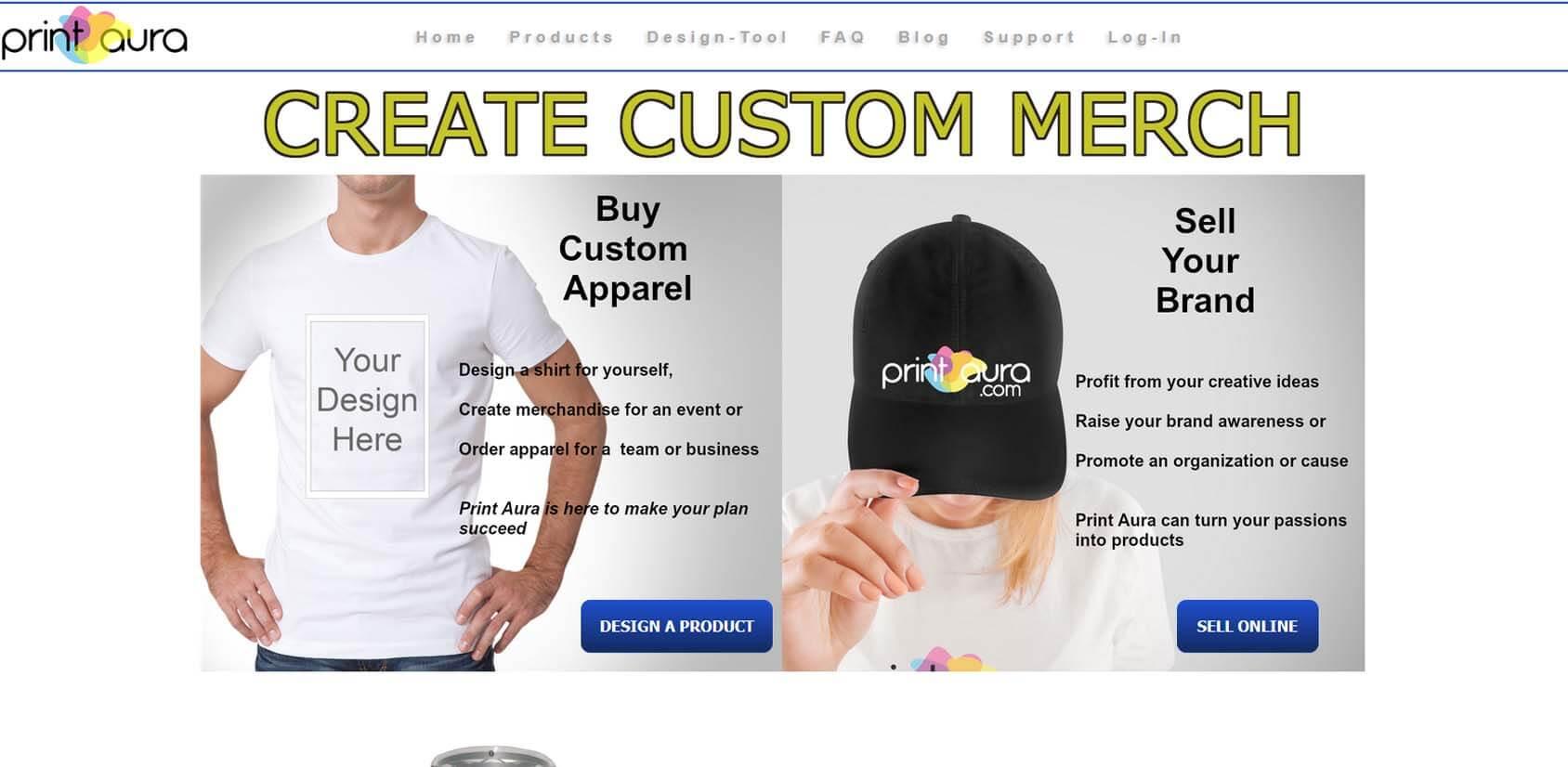 Print Aura Homepage