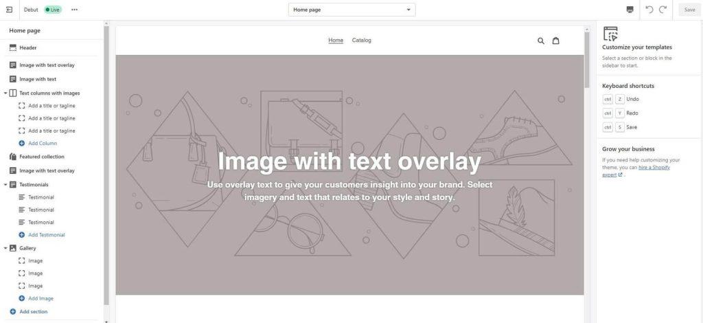 shopify customize templates