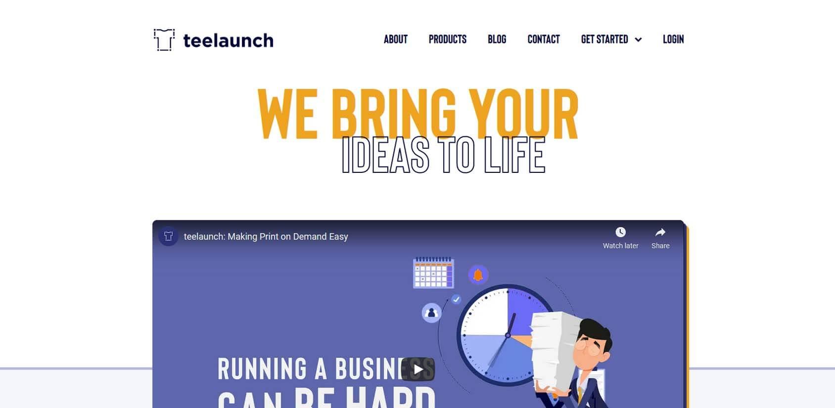 Teelaunch Homepage