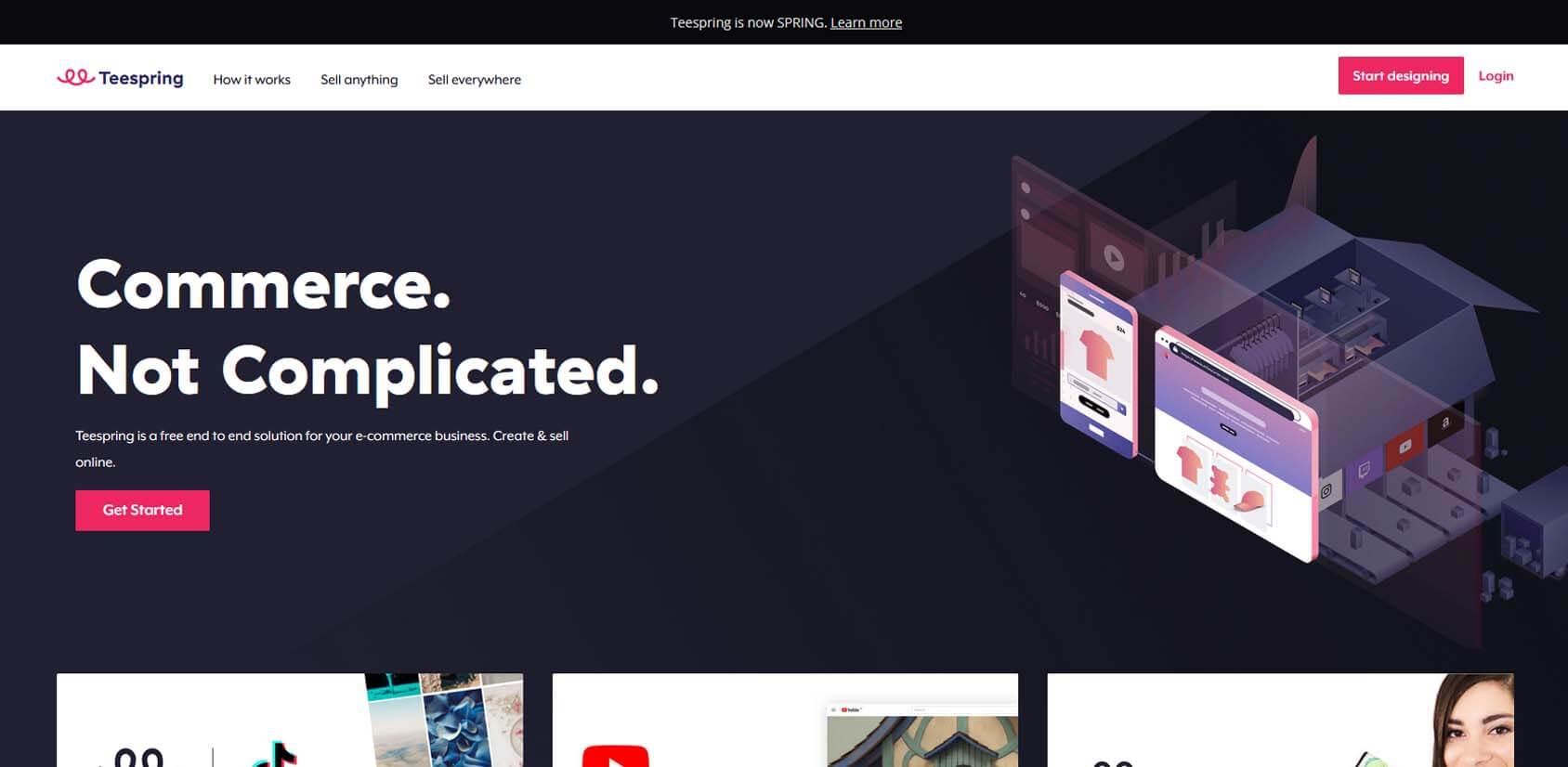 Teespring Homepage